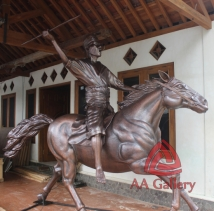 Patung Kuda Tembaga 04