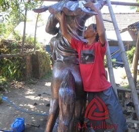 Patung Kuda Tembaga 09
