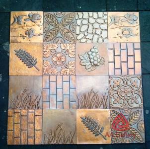 Kerajinan Copper Tile Tembaga – Ubin Tembaga AA GALLERY
