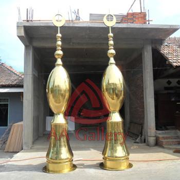 Kerajinan Minaret Kuningan Tembaga Gerbang Engku Putri Batam