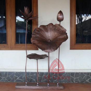 Kerajinan Artwork Tembaga   Artwork Daun Bunga Tembaga