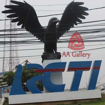 Kerajinan Tembaga Patung Rajawali RCTI