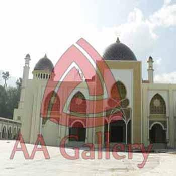 Kubah Tembaga Masjid Islamic Center Padangpanjang di Sumatera Barat