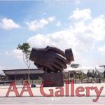 patung persahabatan jabat tangan taman asia afrika bandung 02